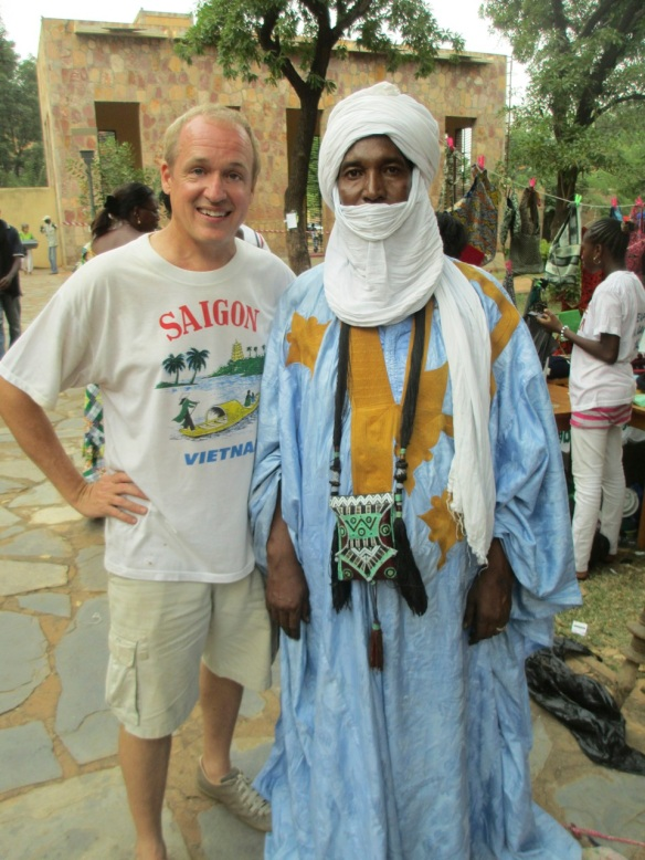 Me (with a Toureg) in Mali, not Bali or Malawi