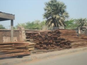 Roadside lumber