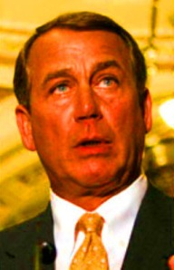 Has John Boehner rolled in the dirt in front of our house?
