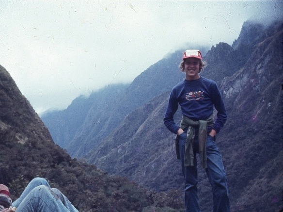 My 16-year-old self, hiking in the Andes for several days, wishing I had my Clairol Herbal Essence shampoo