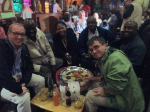 A break in the conference in Addis Ababa gave us time to inhale platters of Ethiopian food.