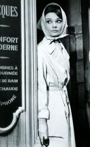 Audrey Hepburn and her trench coat. She has no medical conditions.